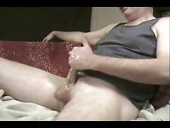 Big ropes of cum in spurting cumshot