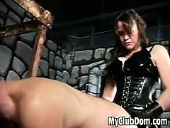 Strapon nailed submissive guy