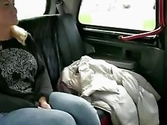 Horny Phoebe gets laid in taxi