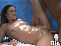 She gets messy cleft massaged