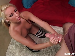 Hot Blonde Porn Star Gets A Facial