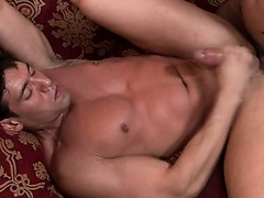 Brad Star, the blond hunky porn star fucks a muscular, gorgeous Latino dude.