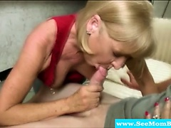Granny loving mature giving blowjob
