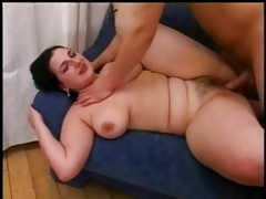 Fucking my Horny Fat Chubby GF on the couch-P2