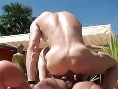 Outdoor hardcore gays blowjob fuck