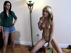 Lusty workout with lesbians