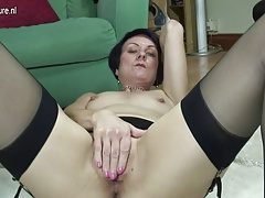 Horny British granny needs a good fuck