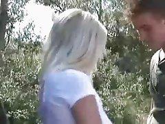 Blond big cock facial cumshot