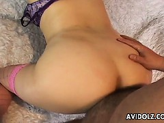 Yuki Aida getting her butthole plugged hard uncensored