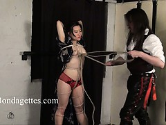 Asian bondage babe Devil tied up and dominated