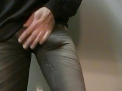 Cum in tight leggings